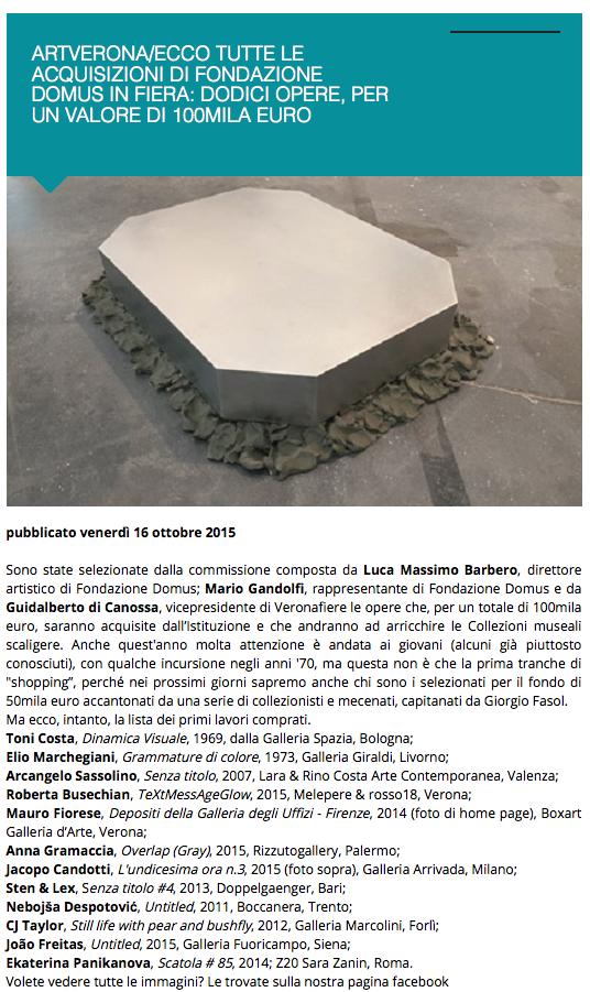 ArtVeronaEcco-tutte-le-acquisizioni-di-Fondazione-Domus-in-fiera-dodici-opere-per-un-valore-di-100mila-euro-Exibart.com-2015-10-19