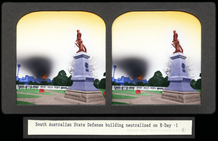 CJ Taylor photographic artwork Australian Conflict Stereoview V